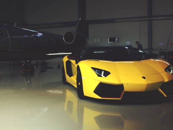 Lamborghini Aventador shoot backstage