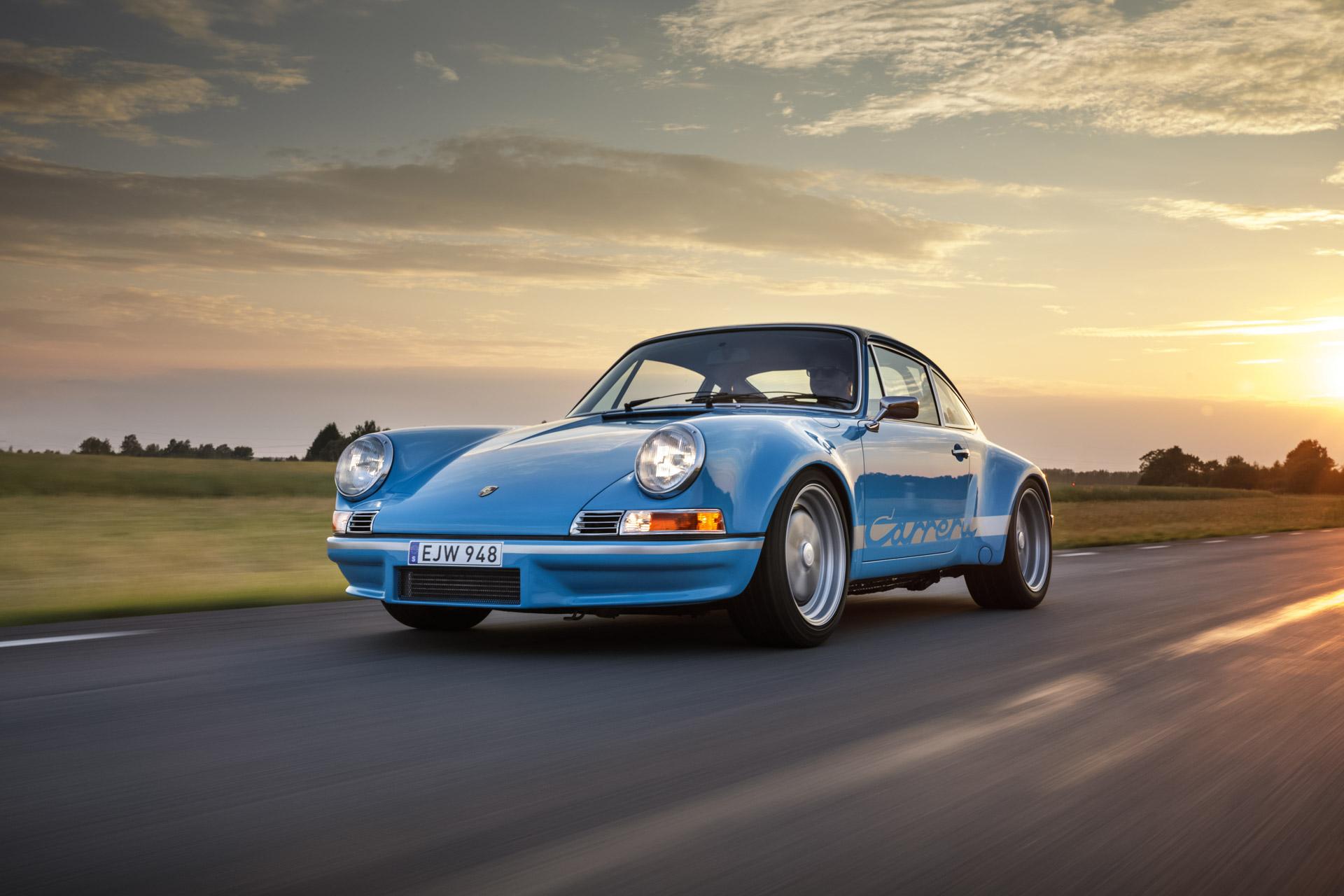 Porsche 911 and 356 motion shots