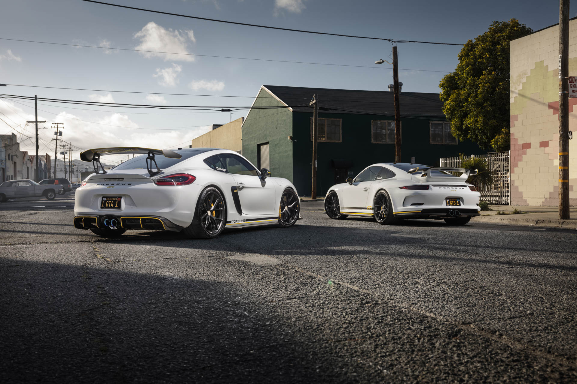 Porsche 911 GT3 and Cayman GT4 in San Francisco